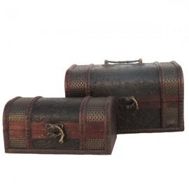 Casetuta de lemn - set 2 cufere (13 cm)