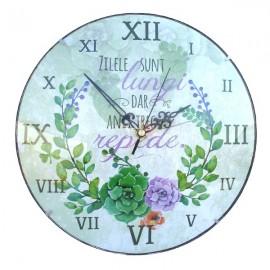 Ceas de perete cu text (30 cm)