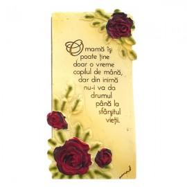 Aplica cu trandafiri - mama