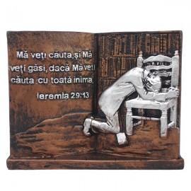 Aplica carte cu texte biblice (12 cm)
