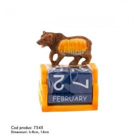 Urs cu calendar
