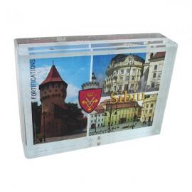 Aplica sticla cu Sibiu