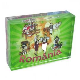 Aplica sticla cu Romania