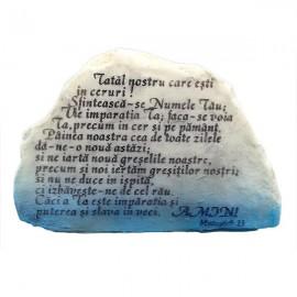 piatra cu doua fete si text religios