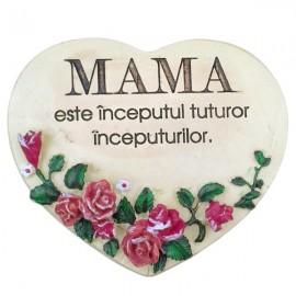 Inima cu text mama