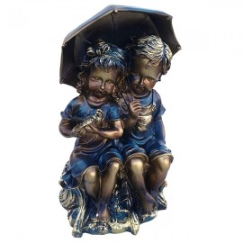 Copii cu umbrela