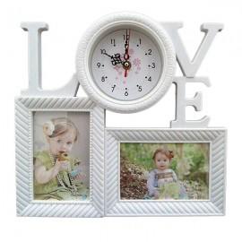 Rama foto cu ceas - Love