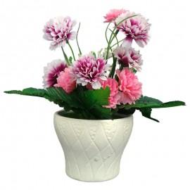 Ghiveci cu flori artificiale