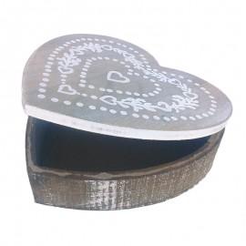 Caseta lemn - inima (22 cm)