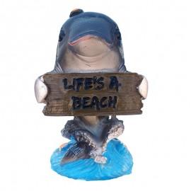 Delfin cu pancarta